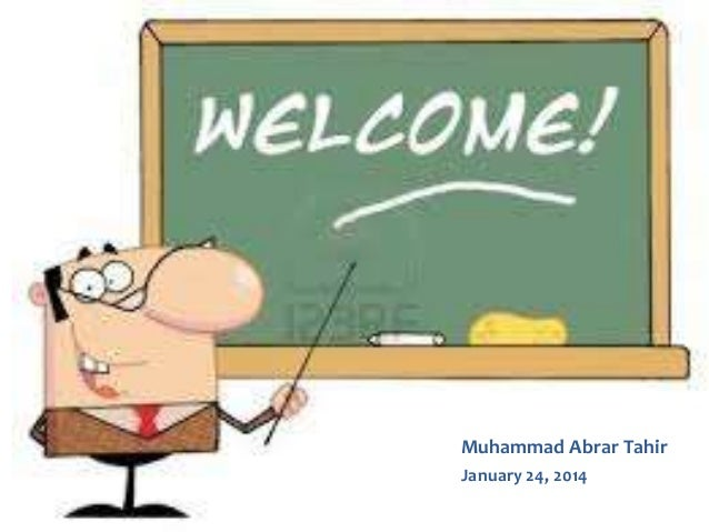 Muhammad Abrar Tahir January 24, 2014
