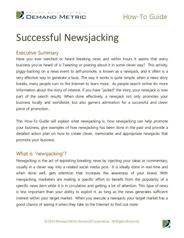 Successful newsjacking
