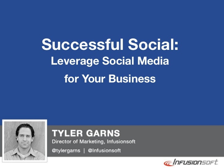 Successful Social:               Leverage Social Media                 for Your Business@tylergarns