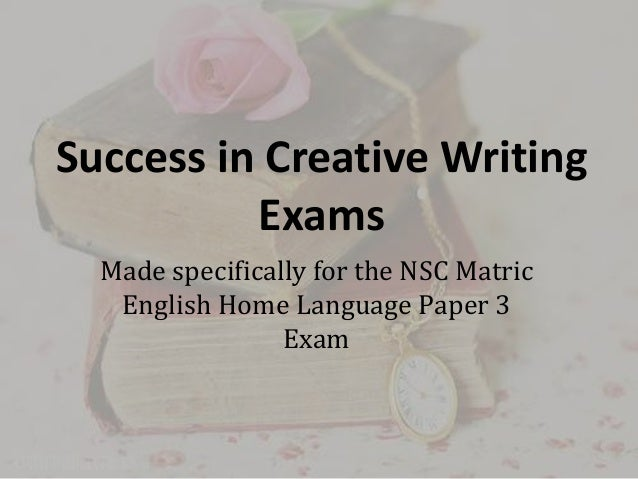 Final exam for creative writing class