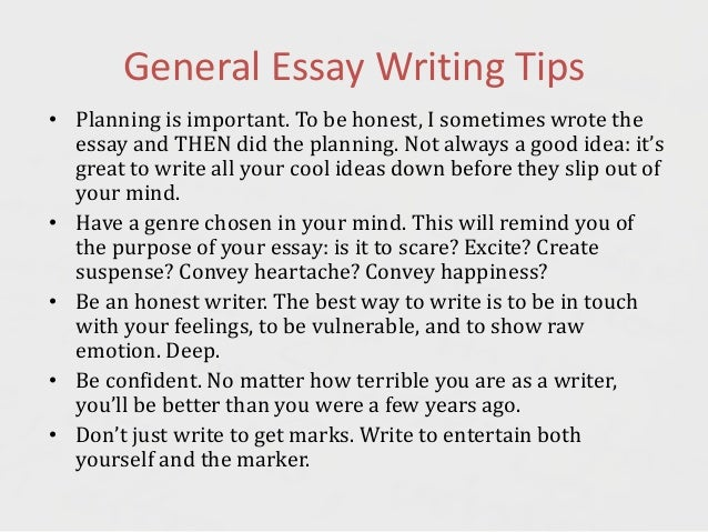 essay techniques Tips for a great college essay why write an essay the purpose of the essay is to convince admission officers whom you've never met, in less than ten.