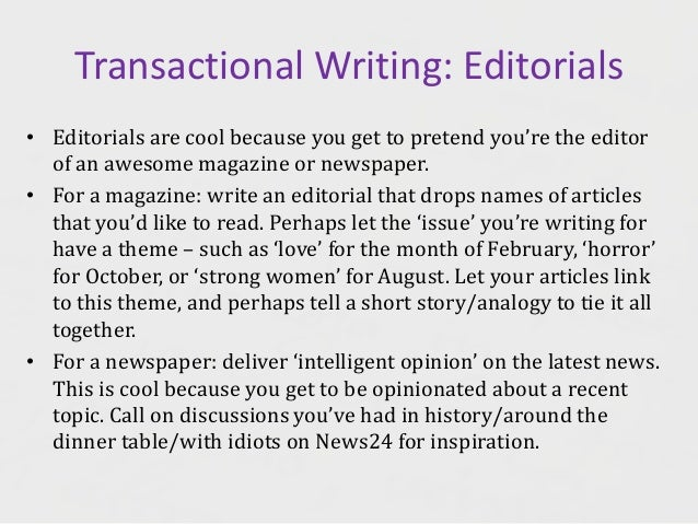 How to write a editorial