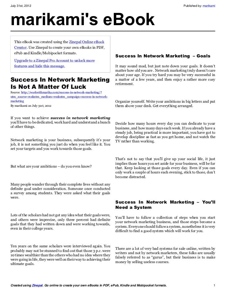 Success In Network Marketing Tips Revealed