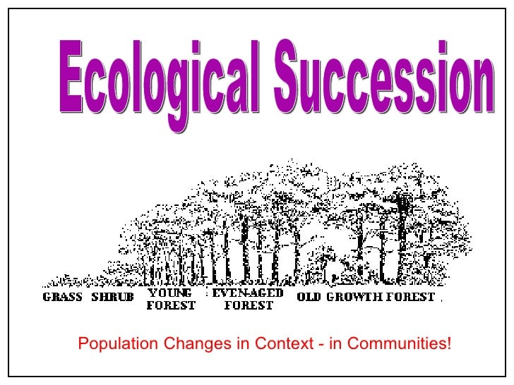 Ecological Succession Population Changes in Context - in Communities!