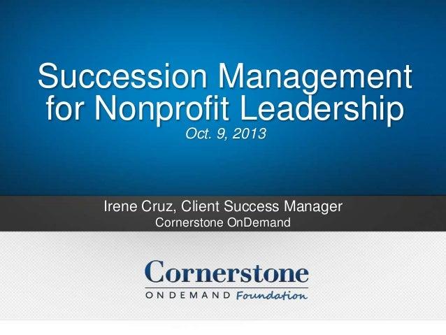 Successment Management for Non-Profits