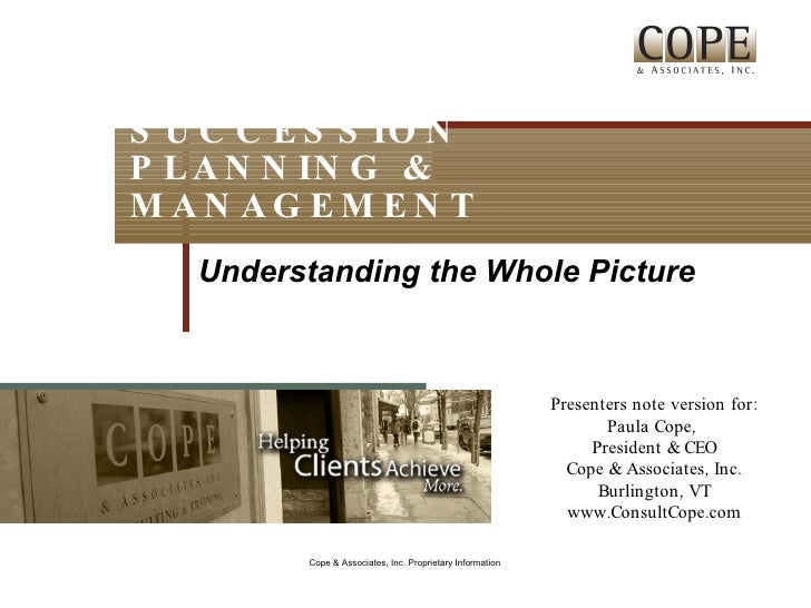 Succession Planning & Management: Understanding the Whole Picture