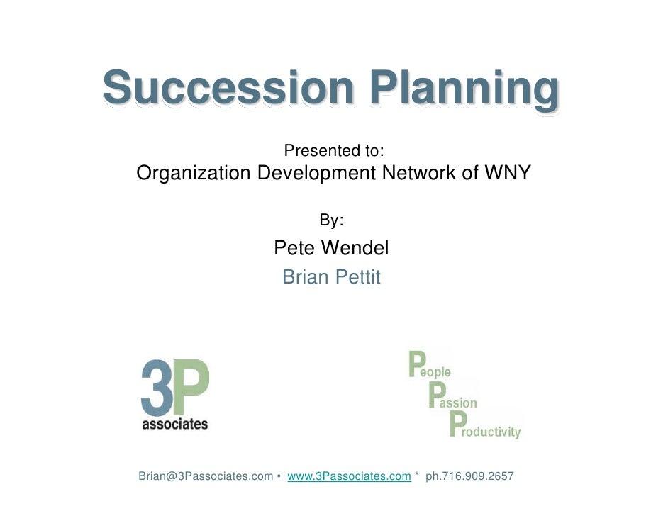 Succession Planning 3P Associates