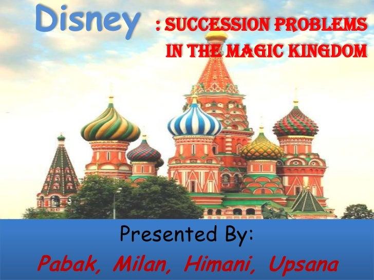 Succession problem at magic kingdom slide