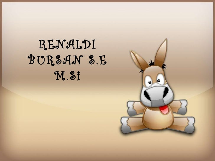 RENALDIBURSAN S.E   M.Si