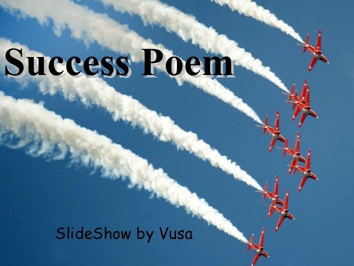 Success Poem