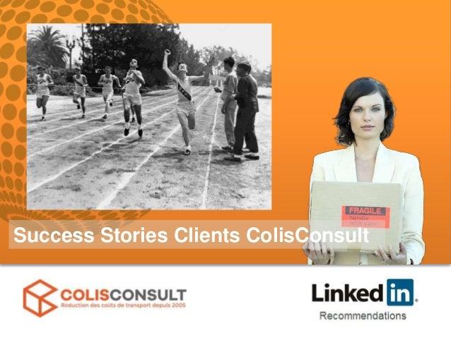 Success Stories Clients ColisConsult