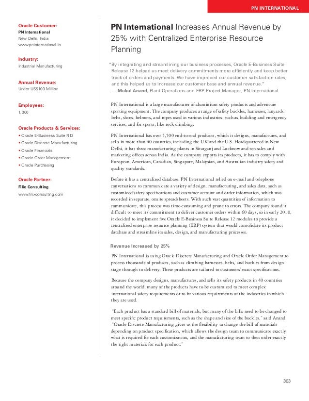 Filix Consulting - PN International Case Study