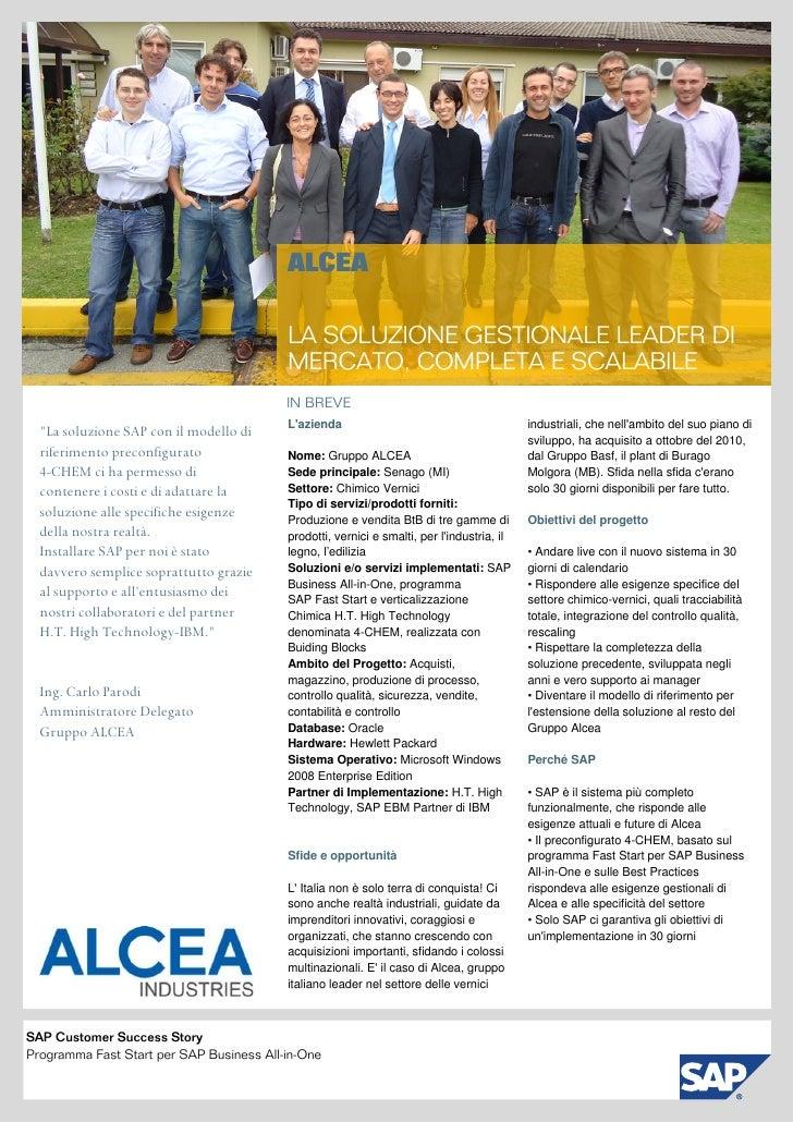 ALCEA                                               LA SOLUZIONE GESTIONALE LEADER DI                                     ...