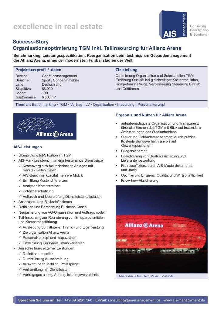 AIS-Success-Story: Allianz Arena München Stadion GmbH