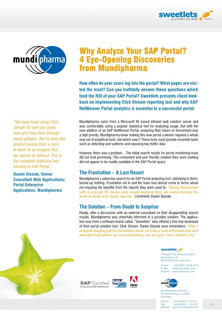 Why Analyze Your SAP Portal? 4 Eye-Opening Discoveries from Mundipharma (ENGLISH)