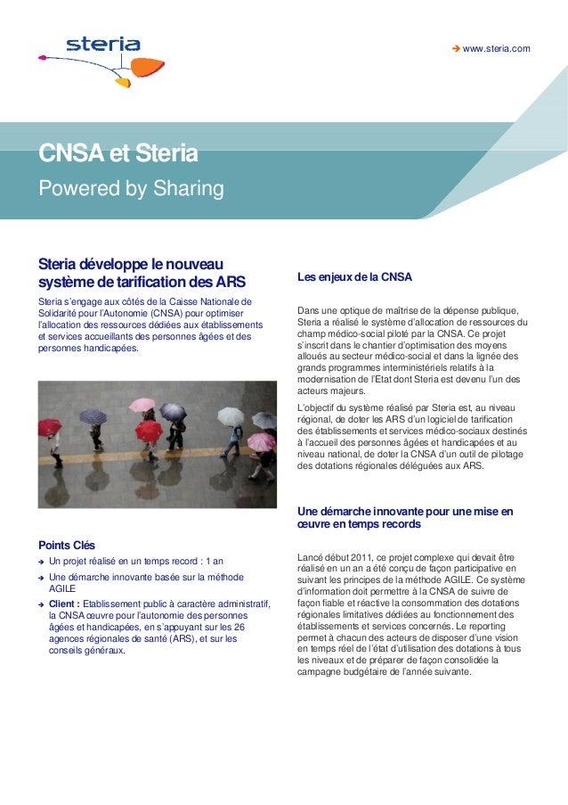 CNSA et Steria