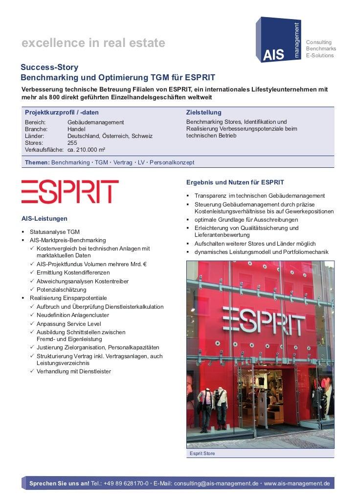 AIS-Success-Story: Esprit Europe GmbH