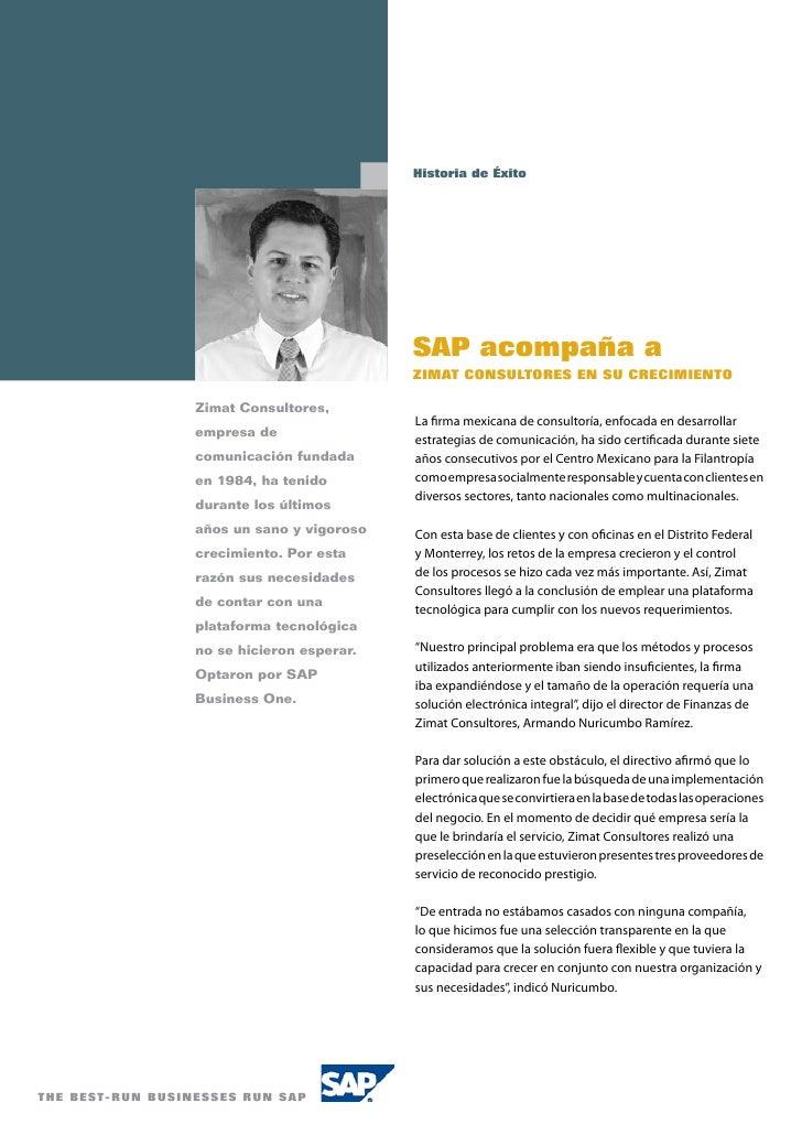 Historia de Éxito                                                             SAP acompaña a                              ...