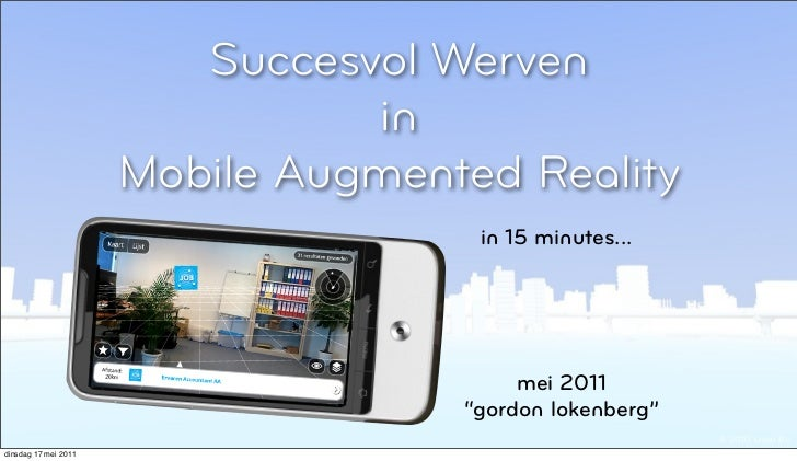 Succesvol werven in mobile augmented reality at layar, early stage 2