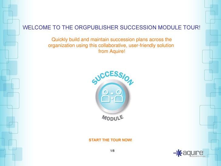 OrgPublisher Succession Module Demo