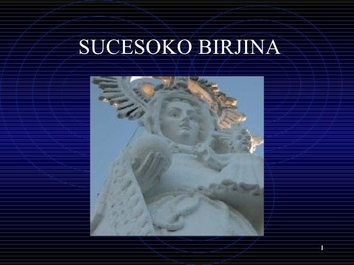 <li>SUCESOKO BIRJINA </li><li>SARRERA <ul><li>Gaur Sucesoko birjinari buruz hitz egingo dugu->  </li></ul></li><li>ISTO...