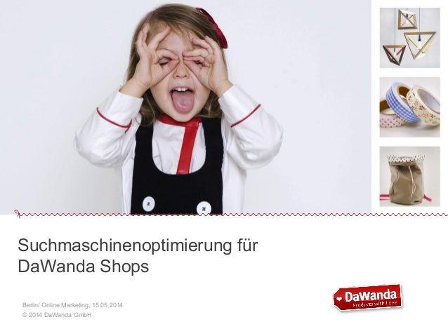 Suchmaschinenoptimierung für DaWanda-Shops