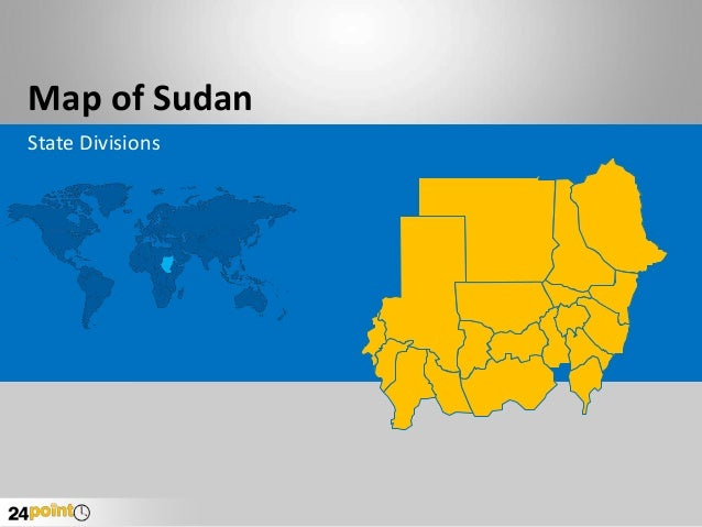Map of Sudan State Divisions