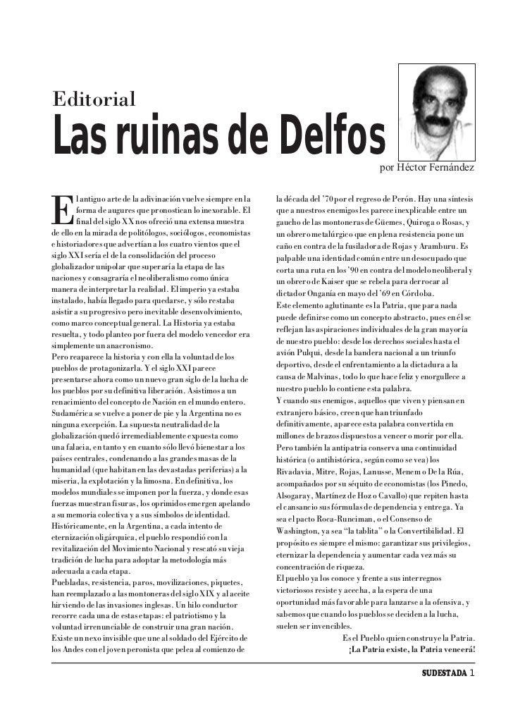 Editorial  Las ruinas de Delfos                                                                           por Héctor Ferná...
