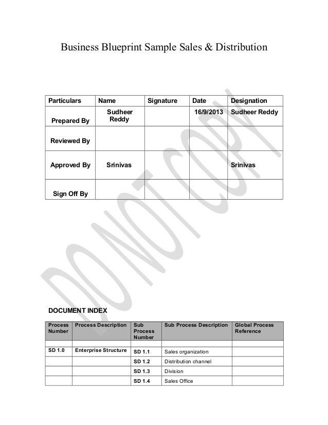 Sudheer Reddy Business Blue Print Sample