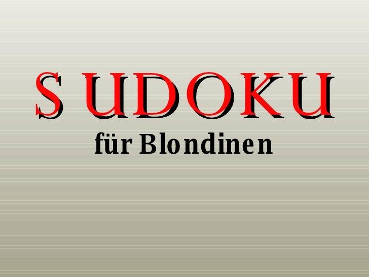 SUDOKU für Blondinen
