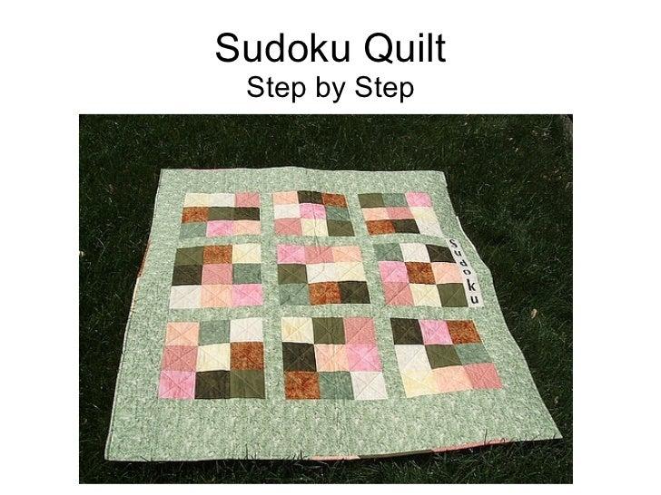 Sudoku Quilt Step by Step Step by Step