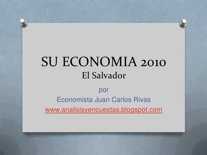 Su economia 2010