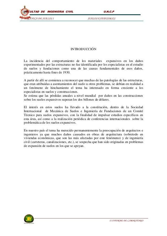 FACULTAD DE INGENIERIA CIVIL                               U.N.C.PMECÁNICA DE SUELOS I                            SUELOS E...