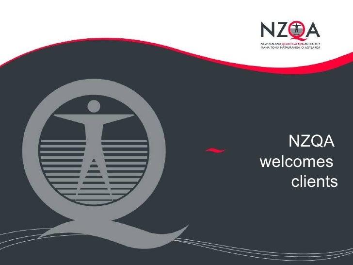 NZQA  welcomes  clients