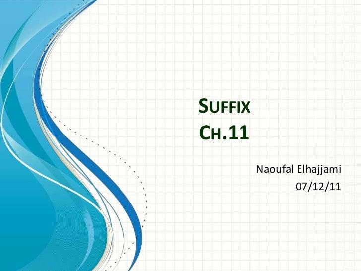 SuffixCh.11<br />NaoufalElhajjami<br />07/12/11<br />