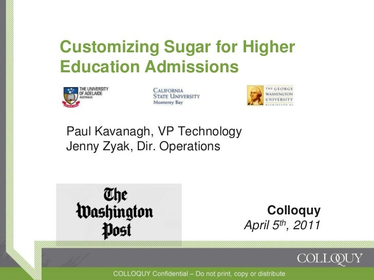 Customizing Sugar for Higher Education Admissions
