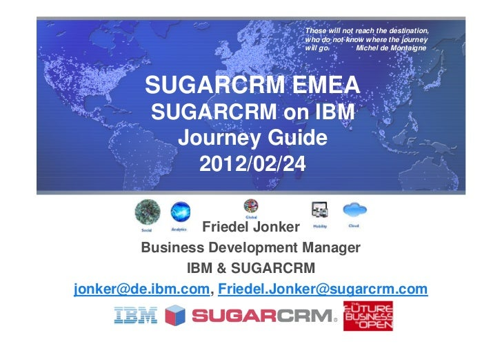 SUGARCRM on IBM Journey Guide 2012