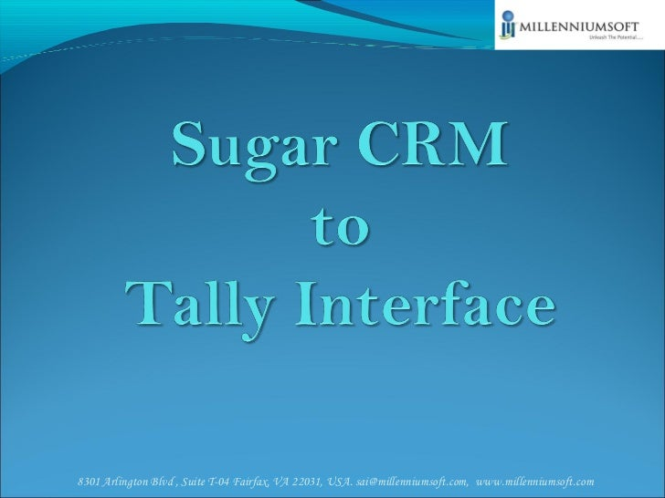 Sugar CRM to Tally Interface