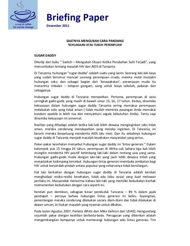 BriefingPaper Desember2011   SAATNYAMENGUBAHCARAPANDANG 'KEKUASAANATASTUBUHPEREMPUAN'   SUGARDADDY Dikuti...