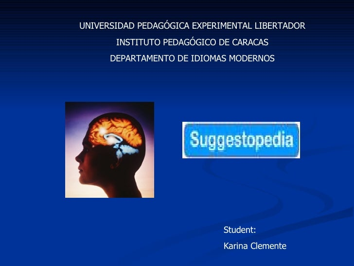 UNIVERSIDAD PEDAGÓGICA EXPERIMENTAL LIBERTADOR INSTITUTO PEDAGÓGICO DE CARACAS DEPARTAMENTO DE IDIOMAS MODERNOS Student: K...