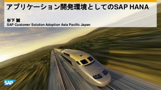 C13,C33,A35 アプリケーション開発プラットフォームとしてのSAP HANA by Makoto Sugishita