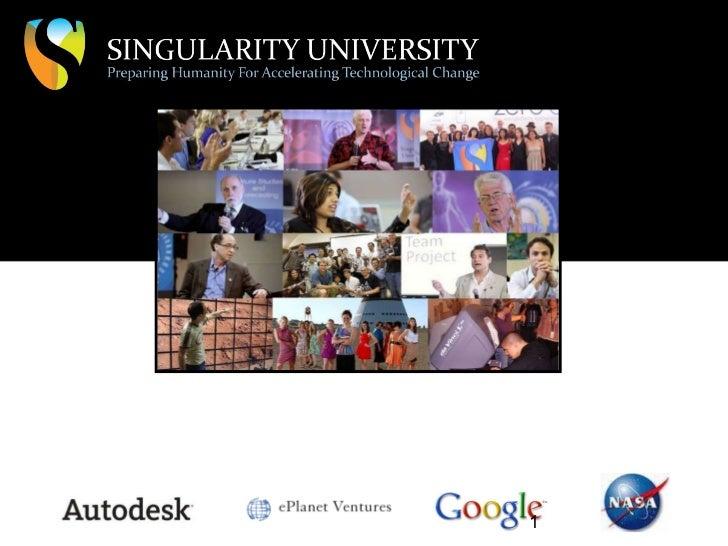Singularity University GSP11 sponsor support presentation