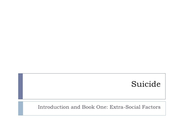 Suicide - Book One