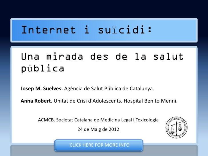 Internet i suïcidi, una mirada des de la salut pública