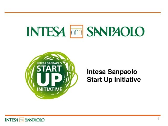 Intesa Sanpaolo Start Up Initiative  1