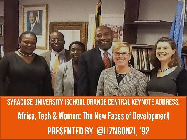 Syracuse University iSchool Orange Central Keynote Address (Nov 2012)