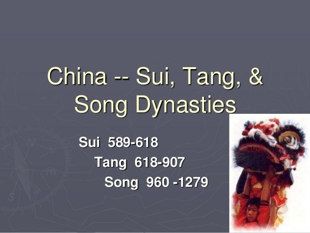 Sui, tang, song