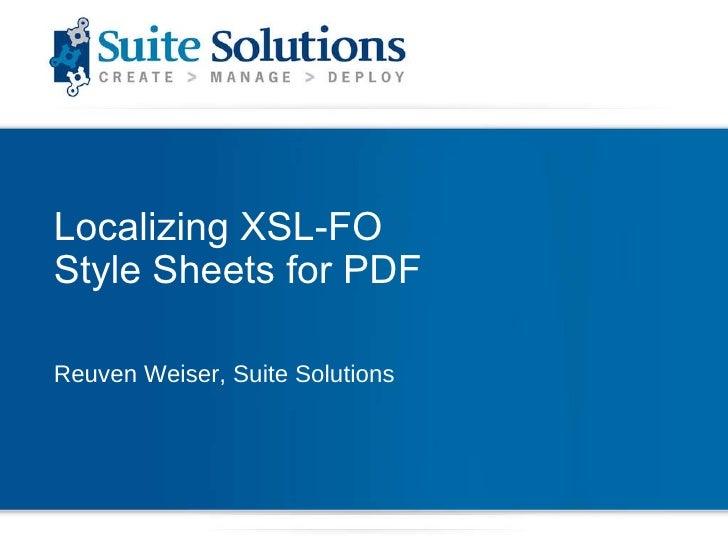 PDF  Localization