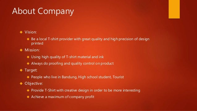T-shirt clothing line business plan