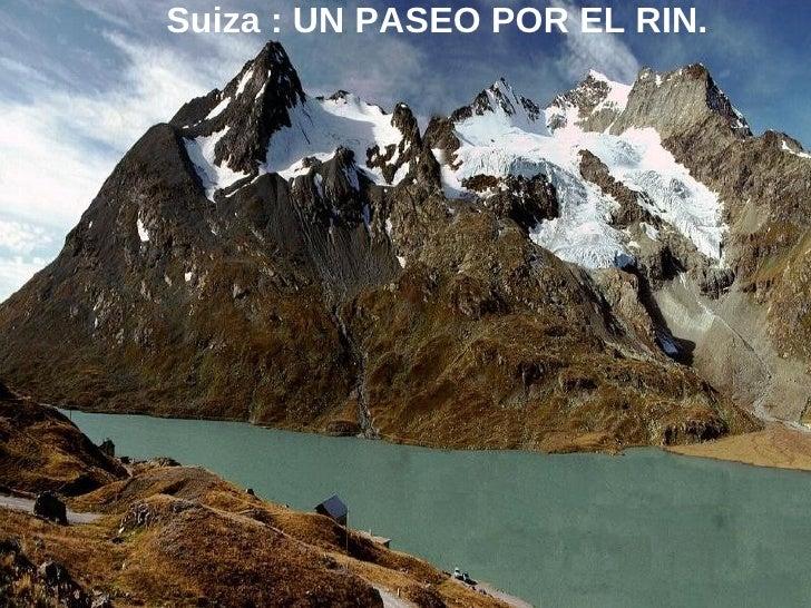Suiza Paseo Por El Rio Rhin